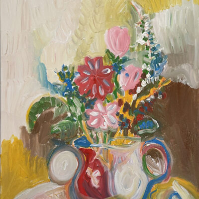 206 ai Chopin and flowers in vase 2021